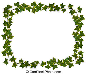 Ivy Border or Frame - Ivy Image composition for background,...