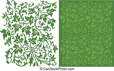 Ivy Filigree Pattern - An intricate, leafy pattern that...