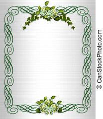 Ivy Hydrangea wedding border
