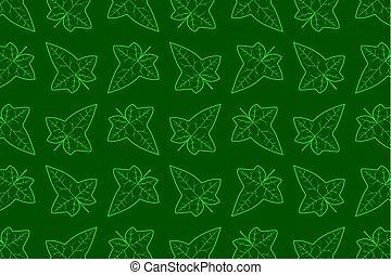 Ivy leaf vector pattern