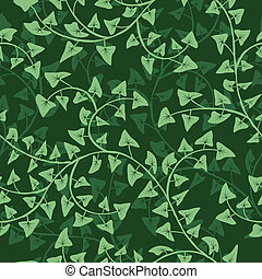 Vector abstract ivy seamless repeat pattern background
