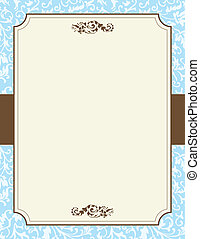An ivy decorated sheet of paper with copy space that can also be used for signage.