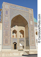 Madrassa Miri Arab, Bukhara, Uzbekistan - Iwan of Madrassa...