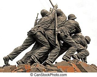 iwo jima の 記念物, 中に, washington d.c.
