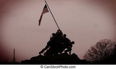 Iwo Jima Memorial Color Enhanced