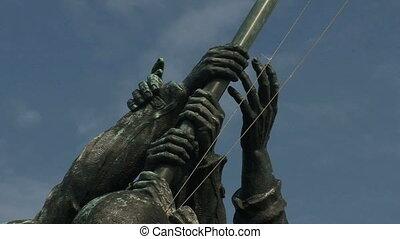 Iwo Jima Memorial, zoom out