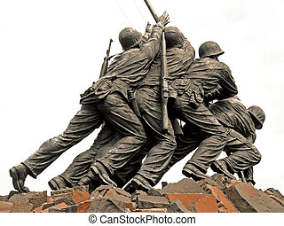 Iwo Jima Memorial in Washington DC - WASH DC - CIRCA JULY...