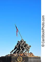 Iwo Jima Memorial statue near Washington DC