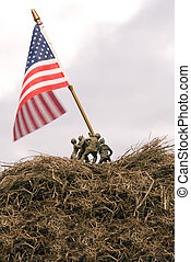 Iwo Jima Re-enactment - A re-enactment of the Iwo Jima flar...
