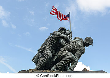 Iwo Jima Washington DC - WASHINGTON DC - AUGUST 20: Iwo Jima...