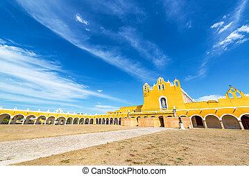 Izamal Monastery Courtyard