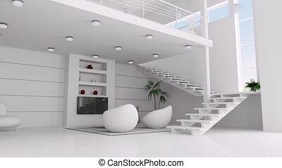 izba, biały, ożywienie