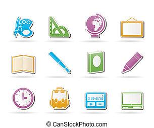 izbogis, és, oktatás, ikonok