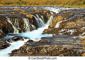 izland, bruarfoss, vízesés