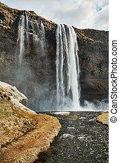 izland, vízesés