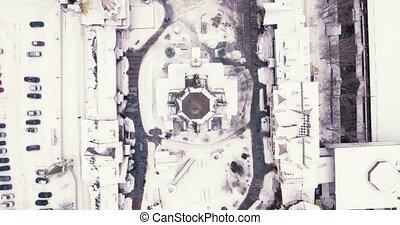 Izmailovo Kremlin aerial in winter drone - Izmailovo Kremlin...