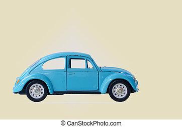 izolować, volkswagen, białe tło, kolor, błękitny