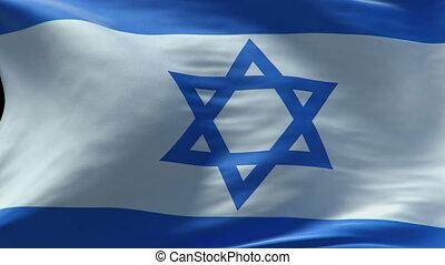 izrael bandera, falować, pętla