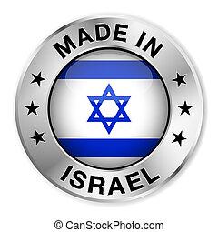 izrael, robiony, odznaka, srebro
