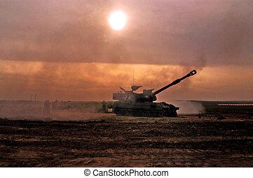 izrael, tüzérség, -, alakulat