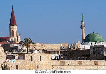 izrael, utazás, -, fénykép, akko, acer