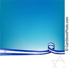 izrael, wstążka, bandera, tło