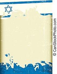 izraelita, grunge, bandera