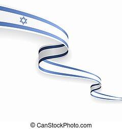 izraelita, illustration., abstrakcyjny, tło., bandera,...