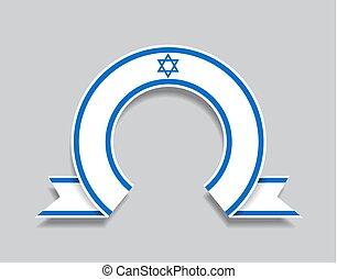 izraelita, zaokrąglony, illustration., abstrakcyjny, tło.,...