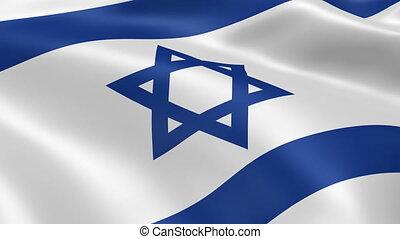 izraelka bandera, wiatr