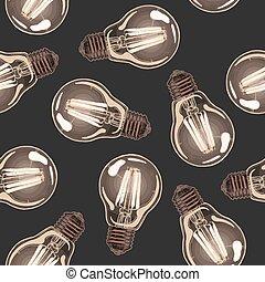 izzó lámpa, földimogyorók, motívum
