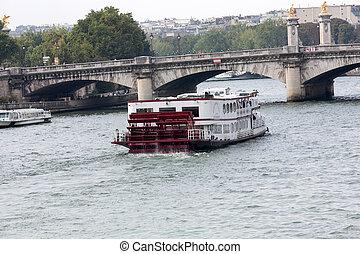 jábega,  parís, francia, viaje, río, barco