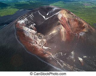 jár, kráter, csoport, emberek