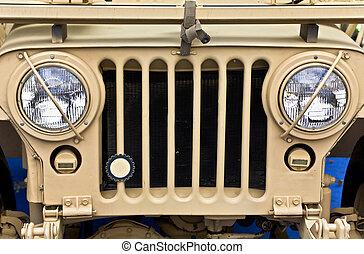 jármű, ww2, öreg, collectible, dzsip