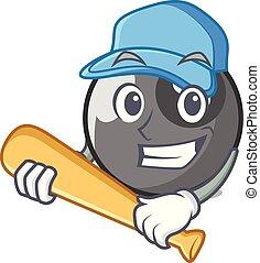 játék baseball, biliárd golyó, betű, karikatúra