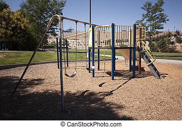 játék, gyermek, liget, pihenés, játszótér
