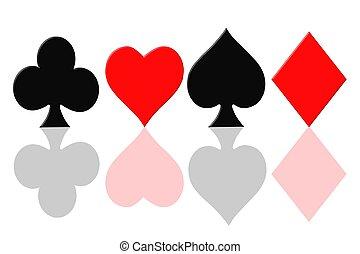 játék kártya, jelkép