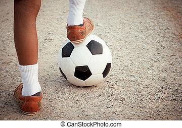 játék, soccer.