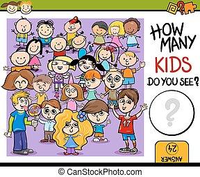 játék, számolás, karikatúra, ábra