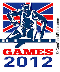 játékok, 2012, útvonal terep, gátfutás, british lobogó