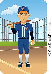 játékos, baseball