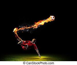 játékos, foci labda