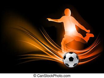 játékos, futball