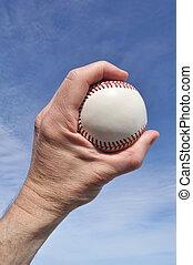 játékos, izgalmas, egy, új, baseball