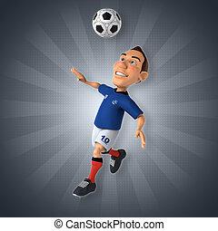 játékos, labdarúgás