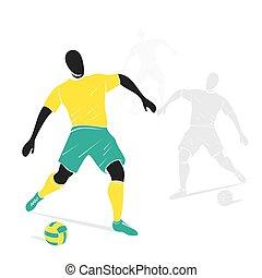 játékos, labdarúgás, tervezés