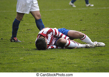 játékos, sebesült