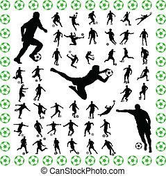 játékosok, futball
