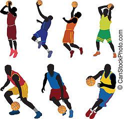 játékosok, kosárlabda