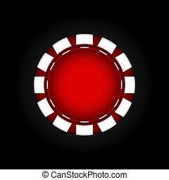játékpénz, helyett, a, casino., gambling., vektor, illustration.